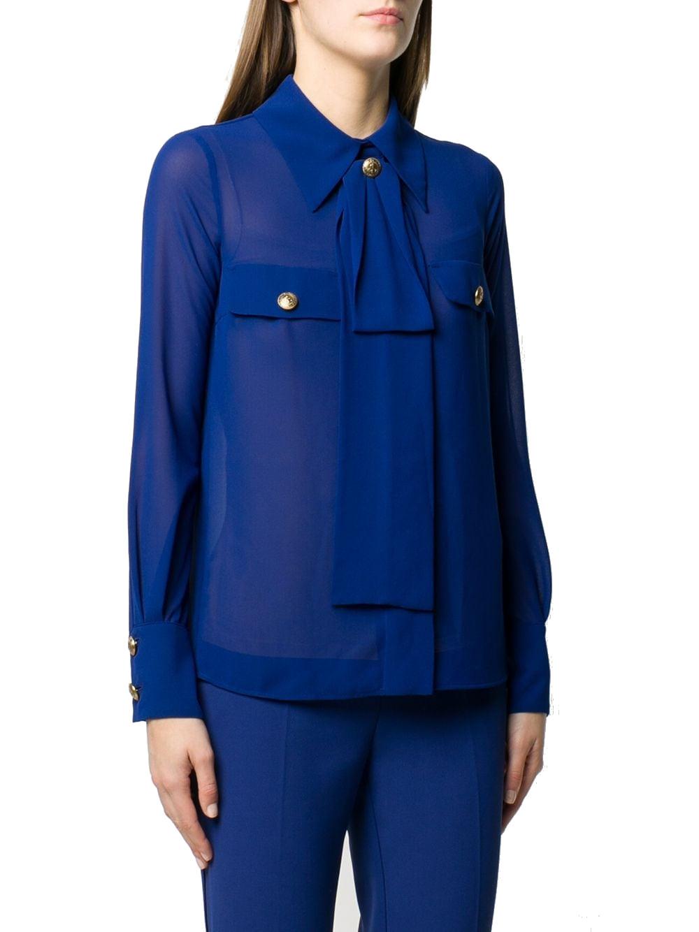 Camicia Elisabetta Franchi CA27101E2 Y01BLU CAPRI  -19