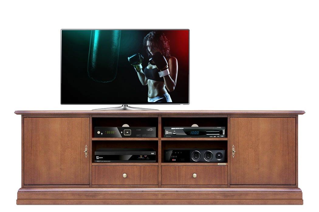 Mueble tv patas en madera anchura 2 m Simply