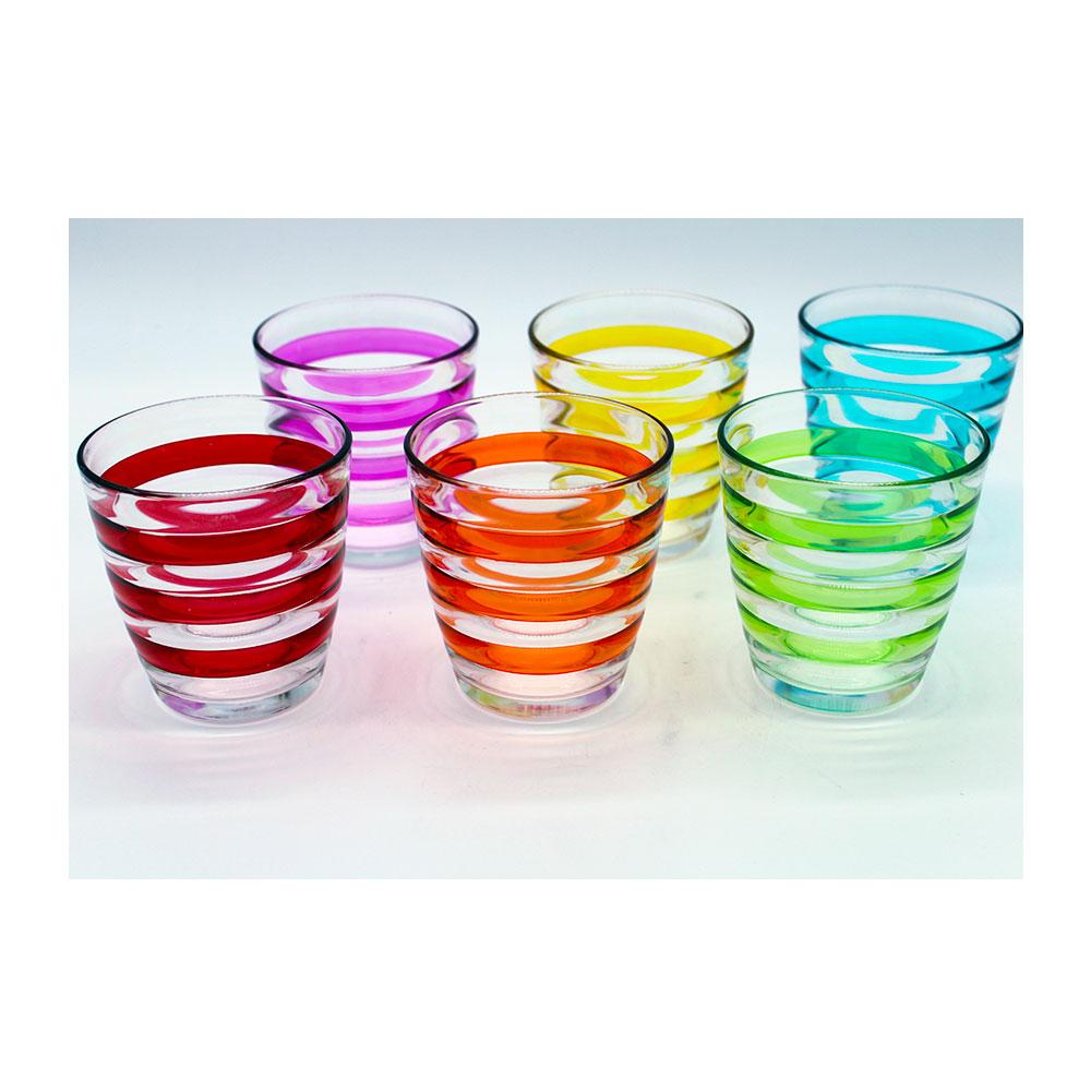 Italian Decor Bicchieri Viva Arlecchino 6Pezzi
