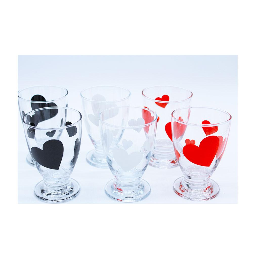 Italian Decor Bicchiere Cin Cin Cuore 6pezzi