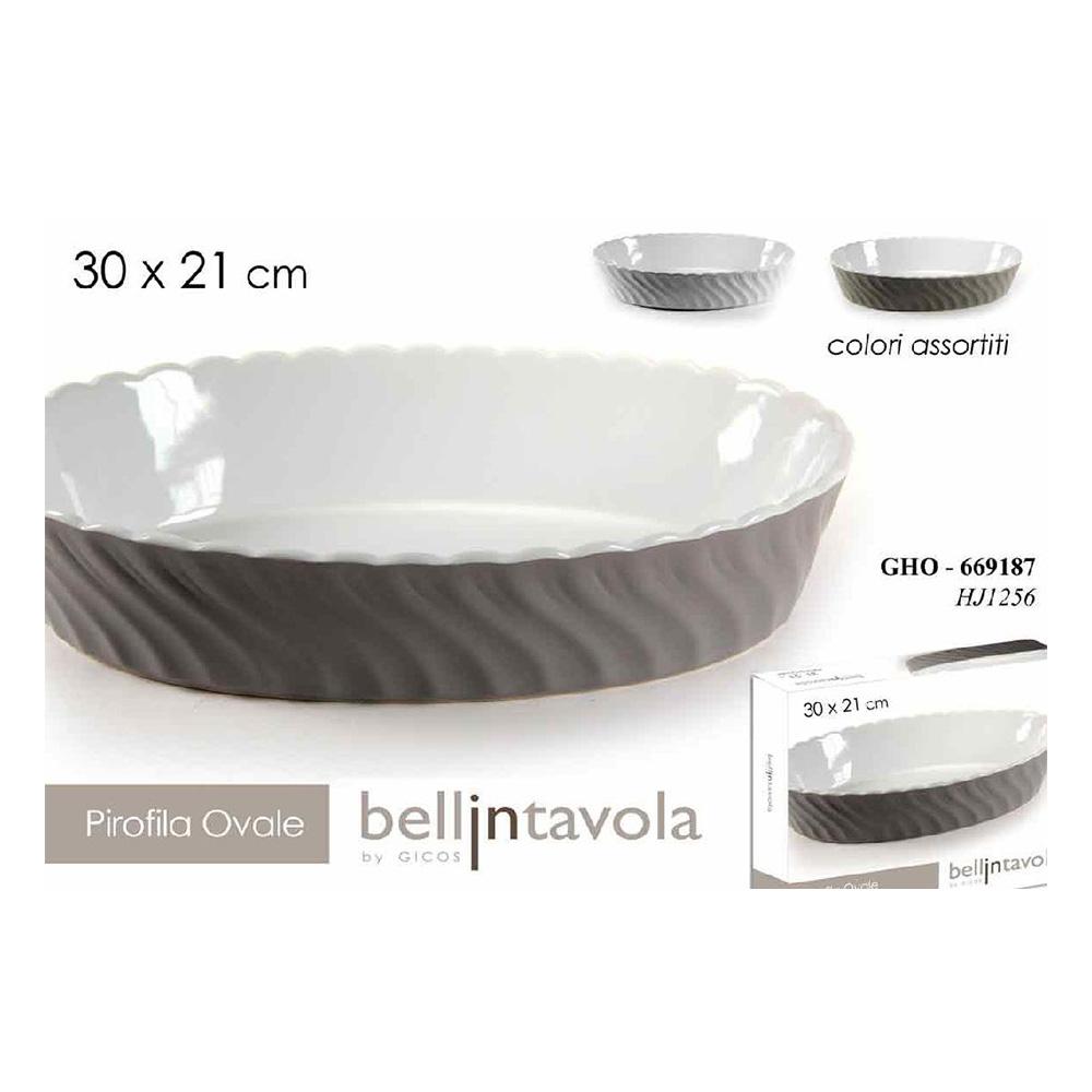 Gicos Pirofila Ovale Ceramica h7x30,5X21 cm