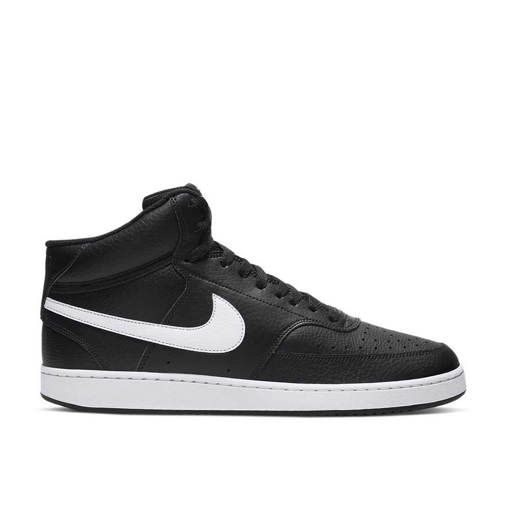Nike Court Vision Mid Black White da Uomo