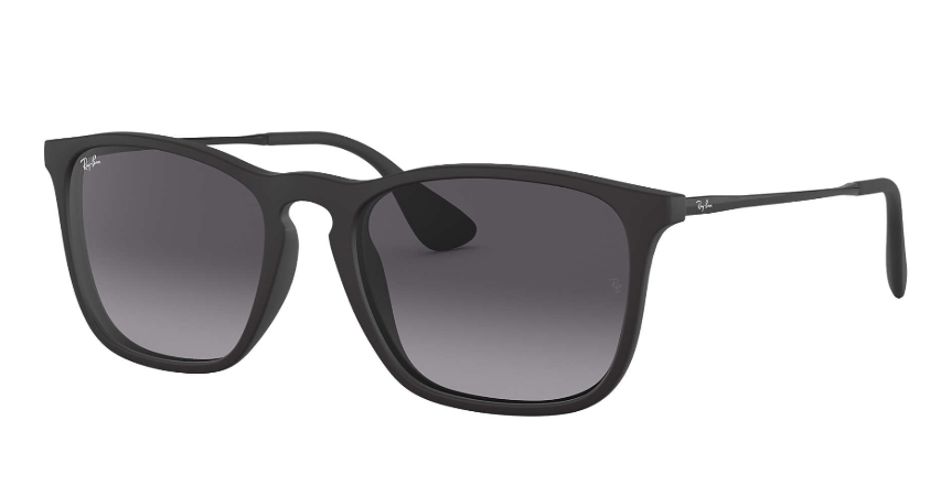 Ray Ban - Occhiale da Sole Unisex, Chris, Matte Black/Grey Shaded  RB4187 622/8G  C54