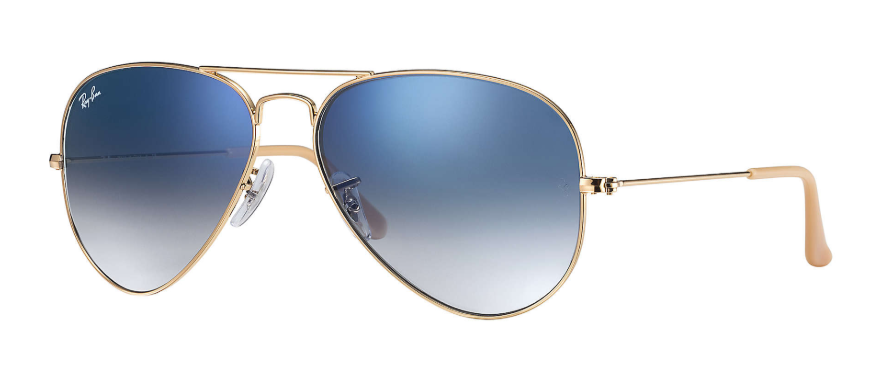 Ray Ban - Occhiale da Sole Unisex, Aviator Gradient, Gold/Blue Shaded   RB3025 001/3F  C58