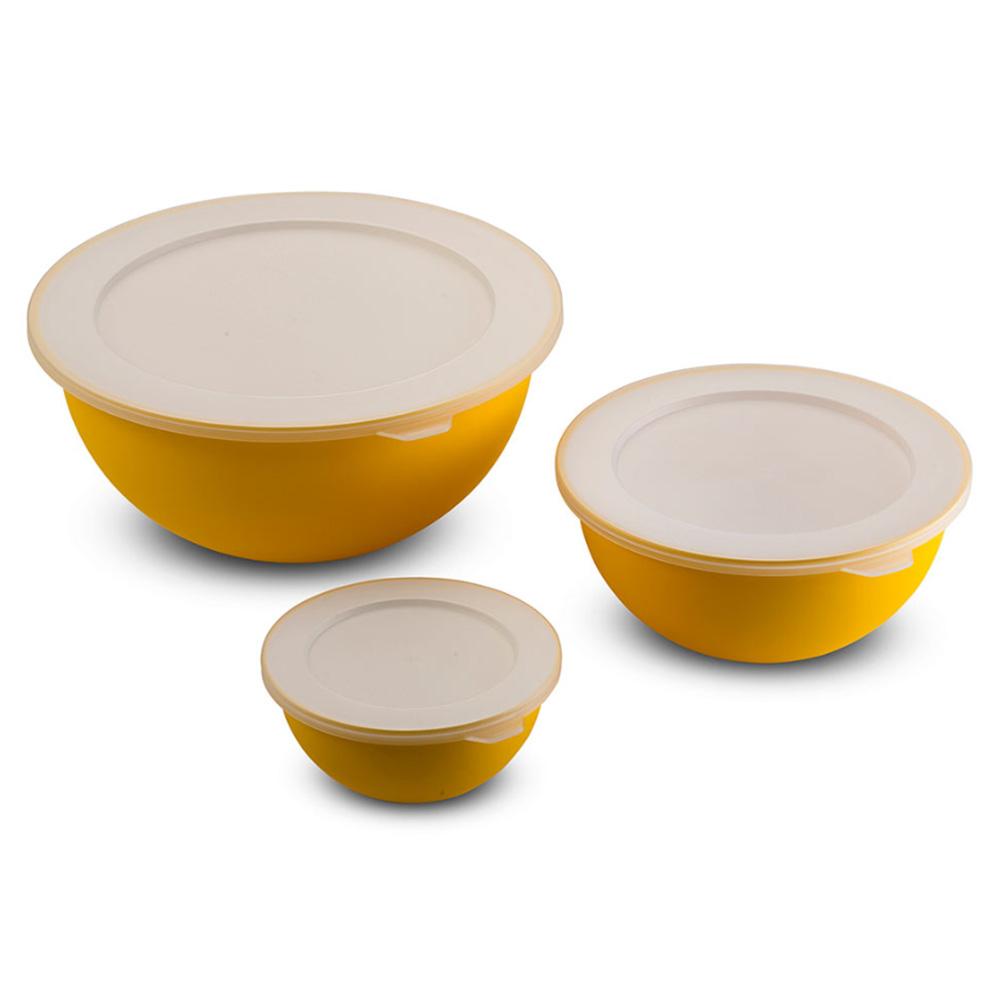 Omada Kit 3 Ciotole Sanaliving Giallo Limone