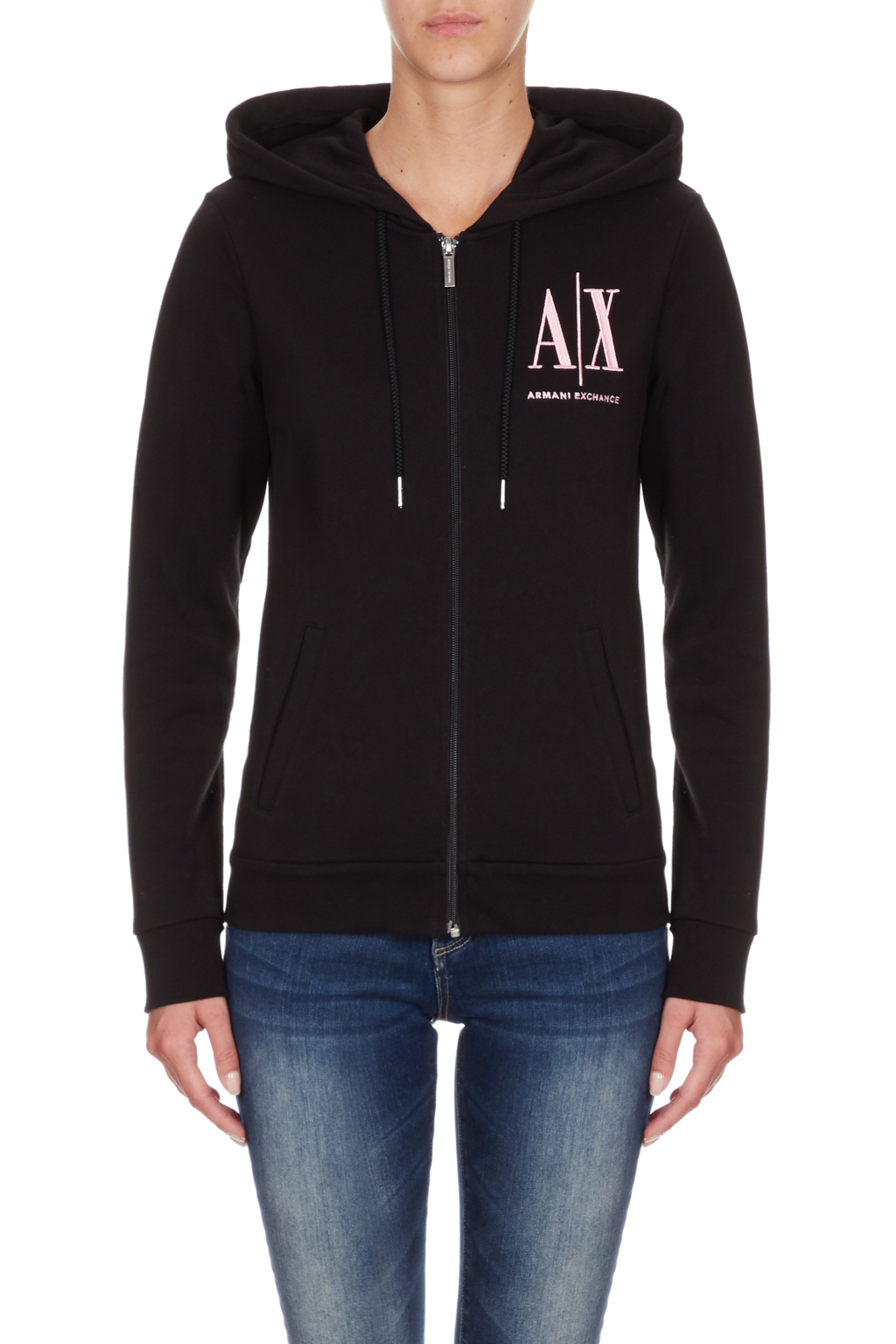 Felpa donna full zip e cappuccio ARMANI EXCHANGE icon A/X
