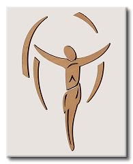Crocefisso in rilievo su legno laccato 13x18,5