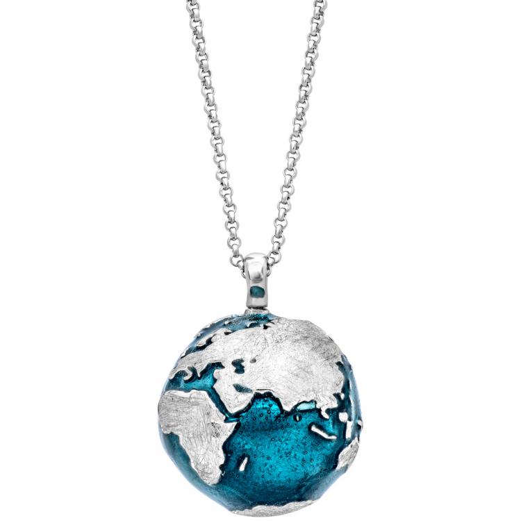 Collana globo in argento bicolore julie julsen