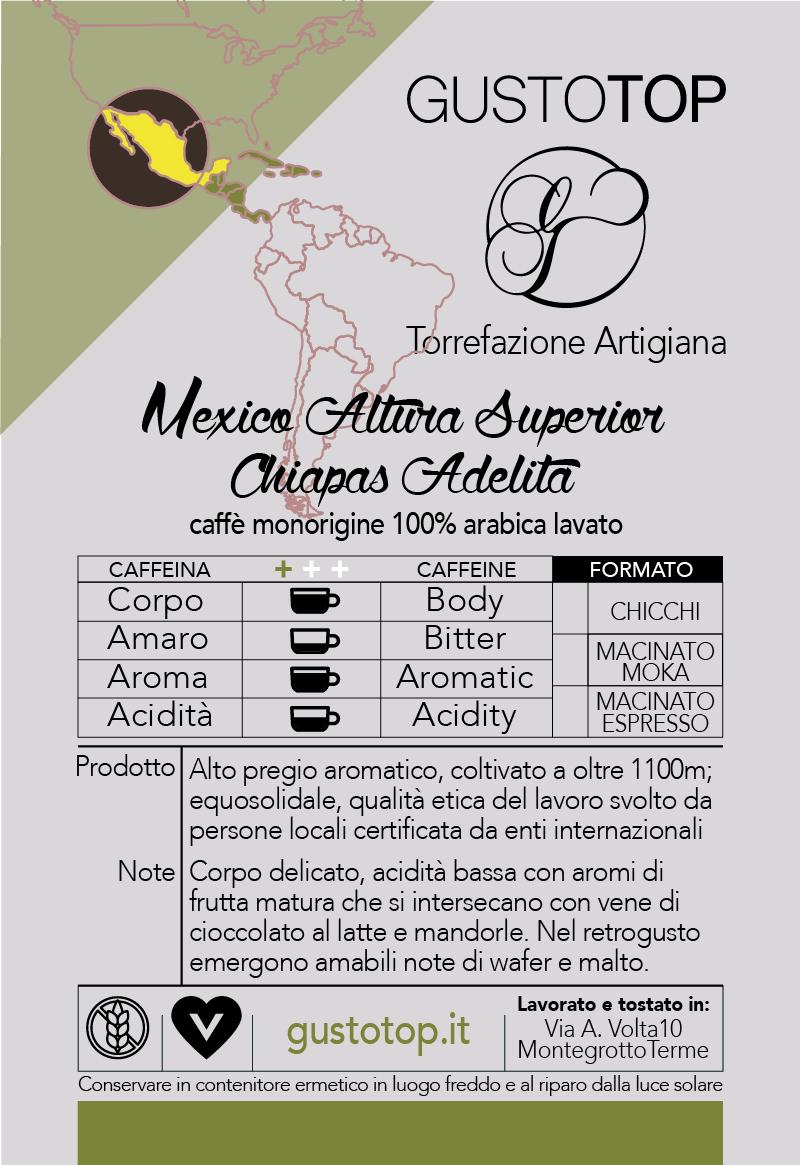 Caffè monorigine in cialda Mexico Altura Superior Chiapas Adelita, confezione da n. 25 cialde in carta ese 44 mm compatibili