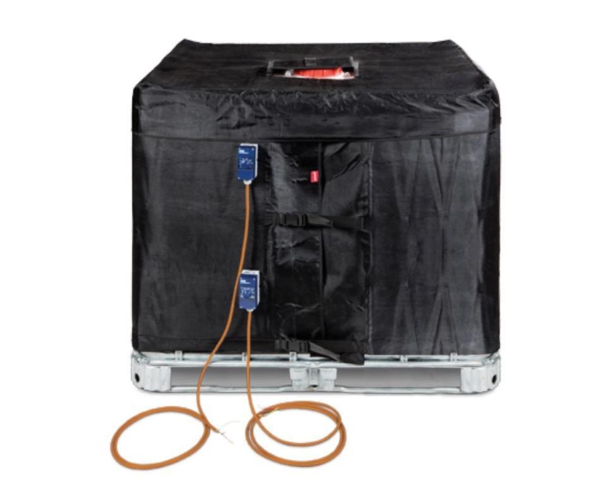 Scaldafusto o coperta termostatica  1000 LT per serbatoi IBC  . termoregolabile 0°>150°
