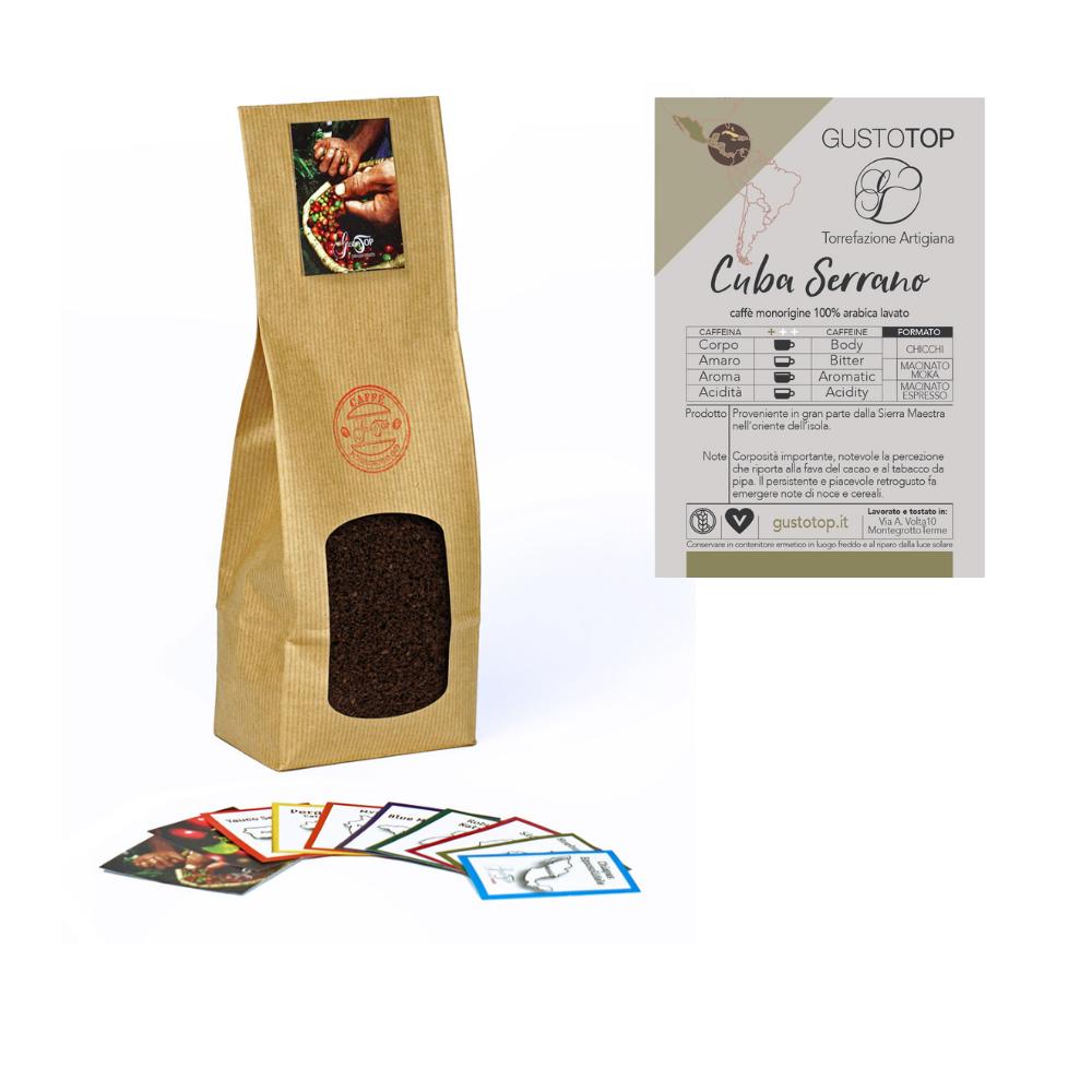 Caffè Cuba Serrano macinato per moka ed espresso, confezione da 250 gr