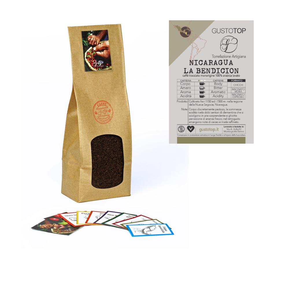 Caffè monorigine Nicaragua - Pacamara La Bendicion per moka o espresso confezione da 250 gr