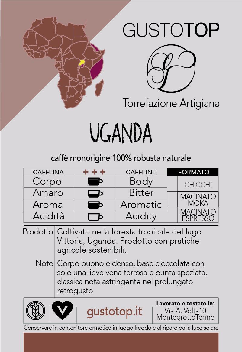 Caffè monorigine in cialda Uganda Naturale, confezione da n. 100 cialde in carta ese 44 mm compatibili