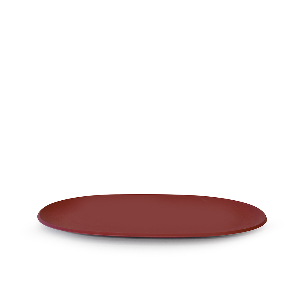 Omada Piatto Portata Pangea Ovale Rosso Fuoco