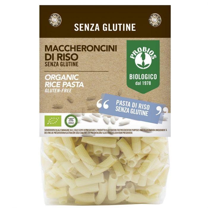 Maccheroncini di riso, senza glutine, biologici