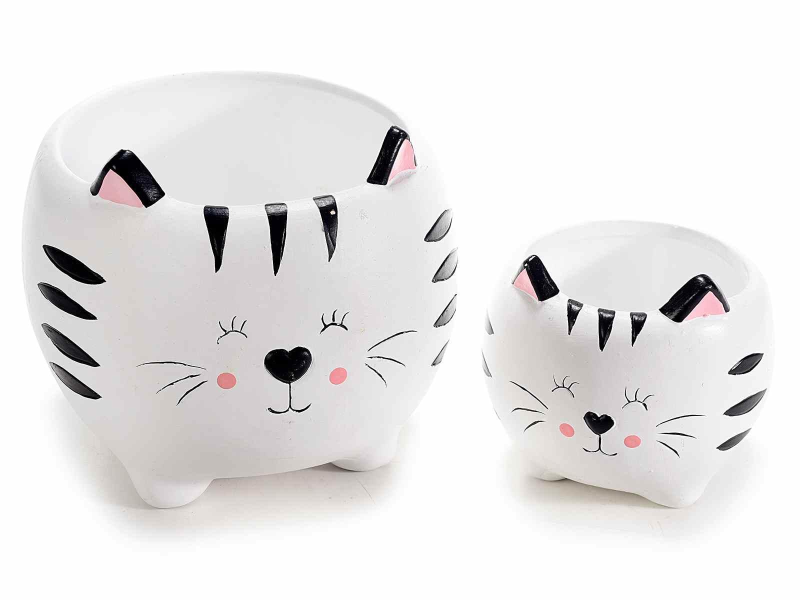 Vaso a gatto in ceramica  Grande (713921)