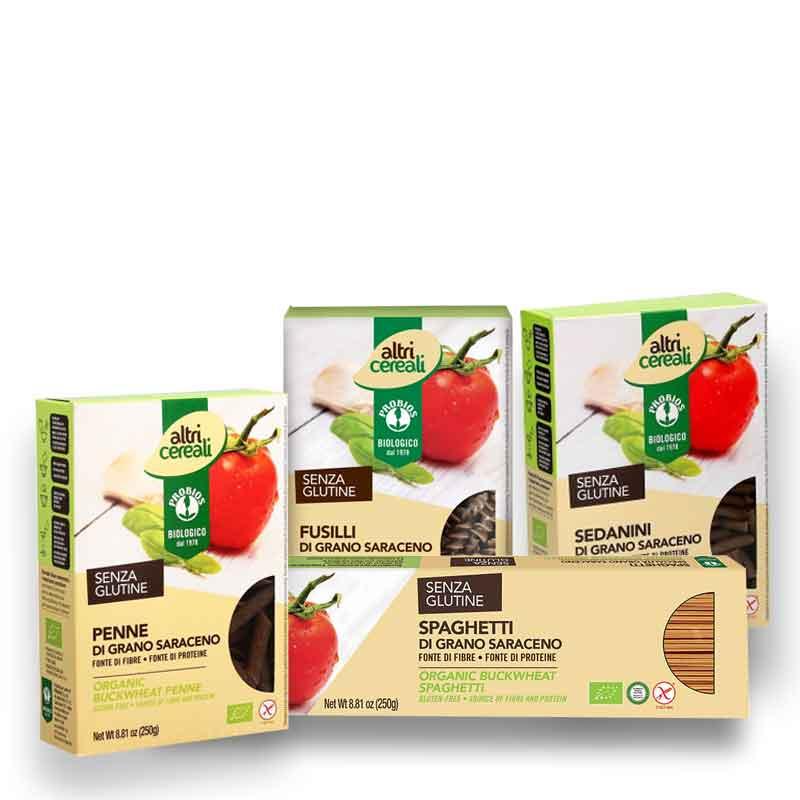 Pacco pasta di grano saraceno senza glutine e biologica