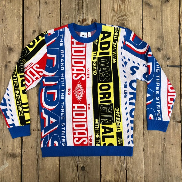 Maglione Adidas Scarf Knit Crew Multicolor