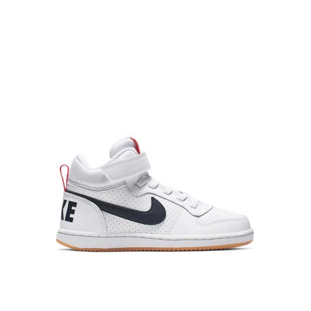 Nike Court Borough Mid White Red da Bambini