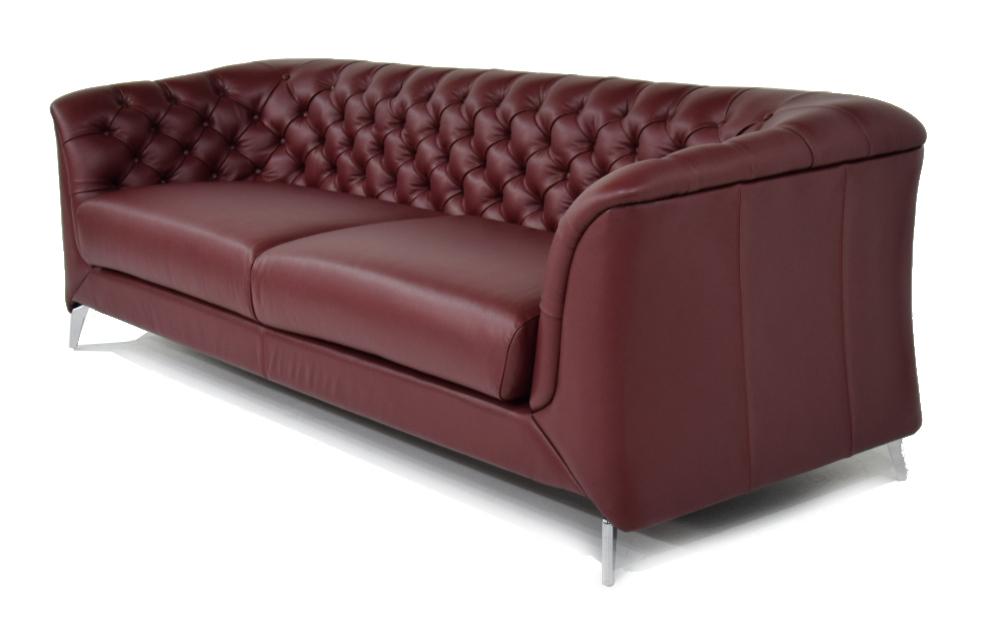 Divano In Pelle Bordeaux.Divano Moderno Modello Chesterfield 4 Posti In Pelle Rosso Bordeaux