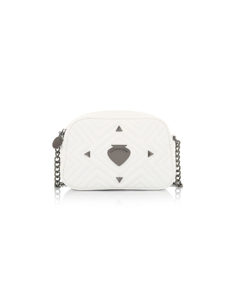 SHOPPING ON LINE  LE PANDORINE VICKY MINI LOVE WHITE NEW COLLECTION WOMEN'S SPRING SUMMER 2020