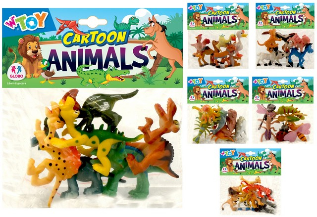 ANIMALI COMICI 6PZ 6 AS. 39591 GLOBO
