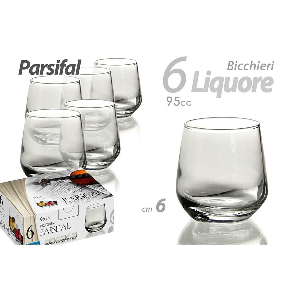 Gicos Set 6 Bicchieri per Liquore Parsifal