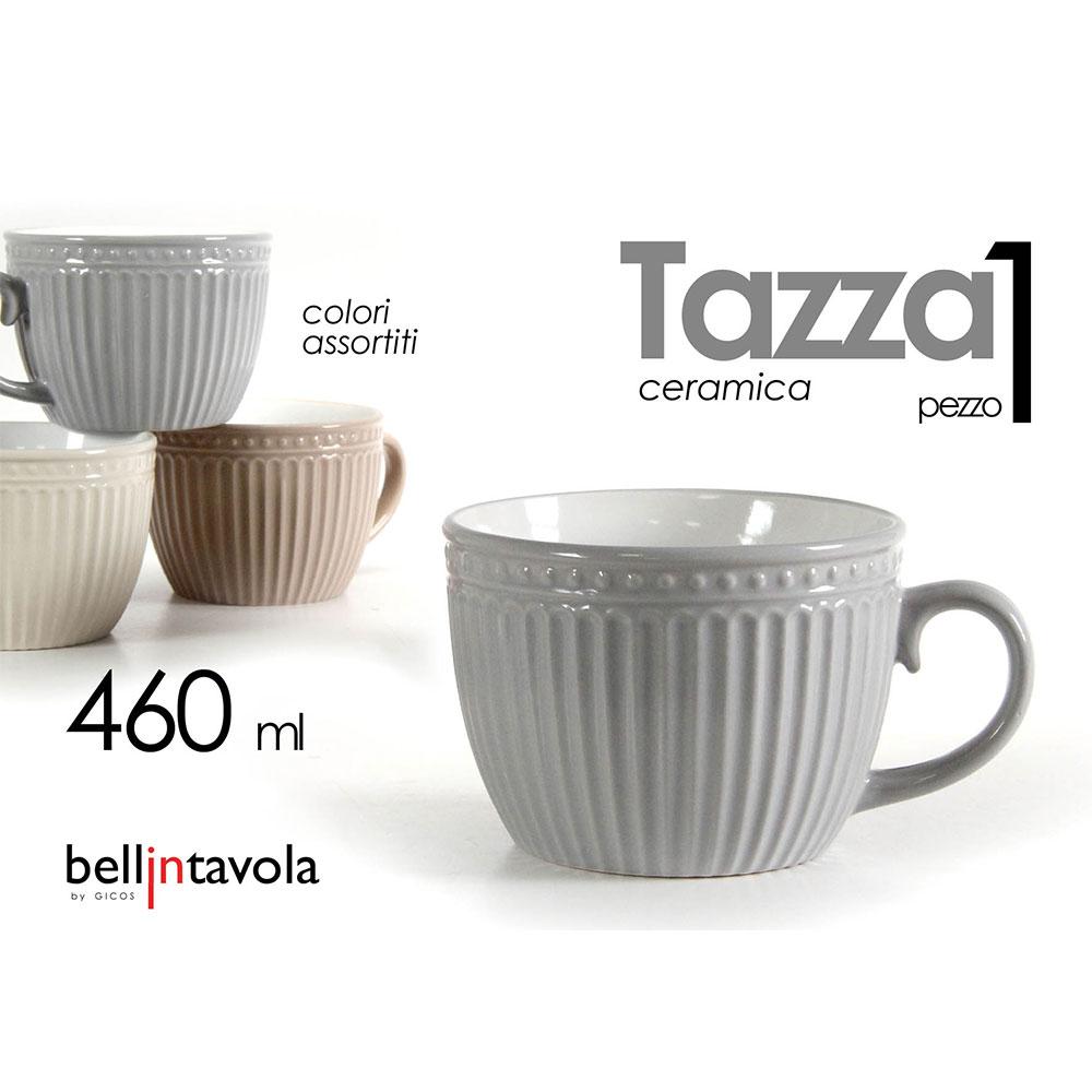 Gicos Tazzone Latte  in Ceramica Colorato
