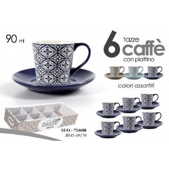 Gicos Set 6 tazzine Caffè Colori Assortiti