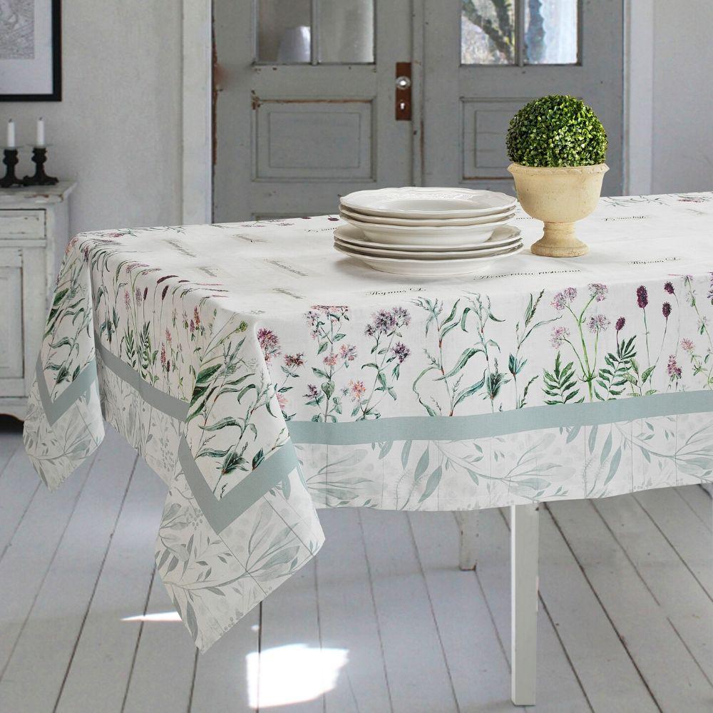 Tovaglie di Varie Misure o Elegante Set di 4 Strofinacci da Cucina 50x70cm in Cotone 100% NATURALE con Design Moderno FLOREALE   BOTANICO