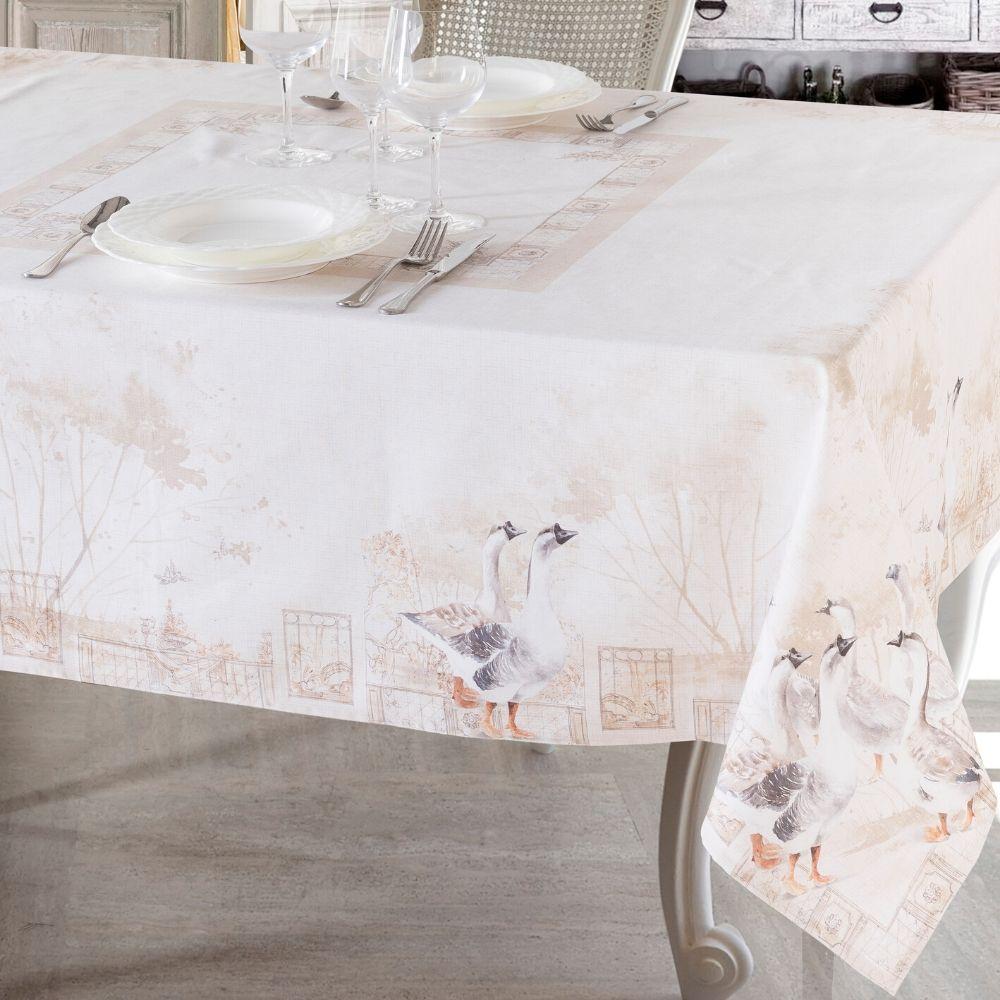 Tovaglie di Varie Misure o Elegante Set di 4 Strofinacci da Cucina 50x70cm in Cotone 100% NATURALE con Design Moderno | OCA