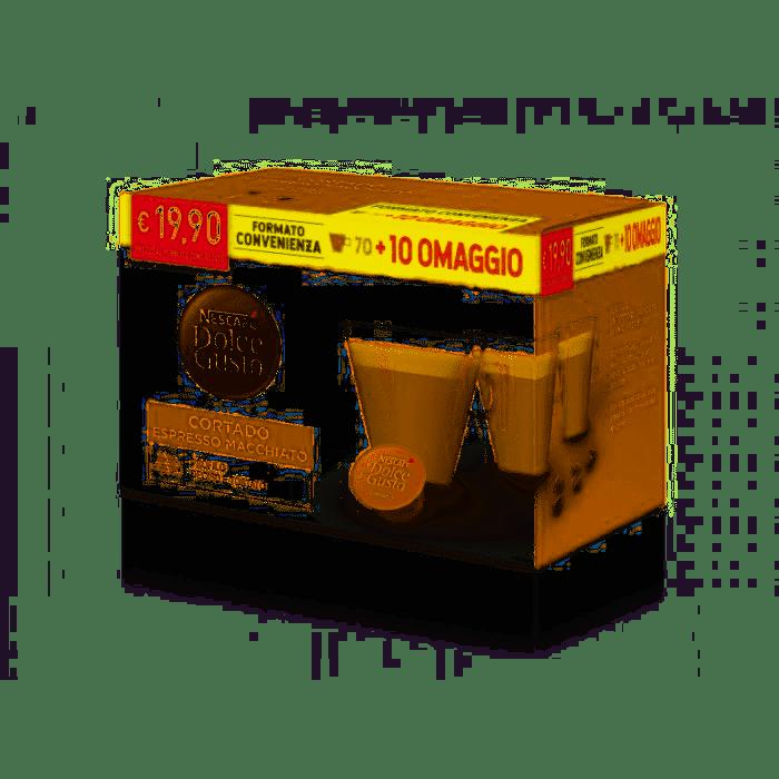 70 + 10 Capsule Cortado Espresso Macchiato NESCAFE' DOLCE GUSTO
