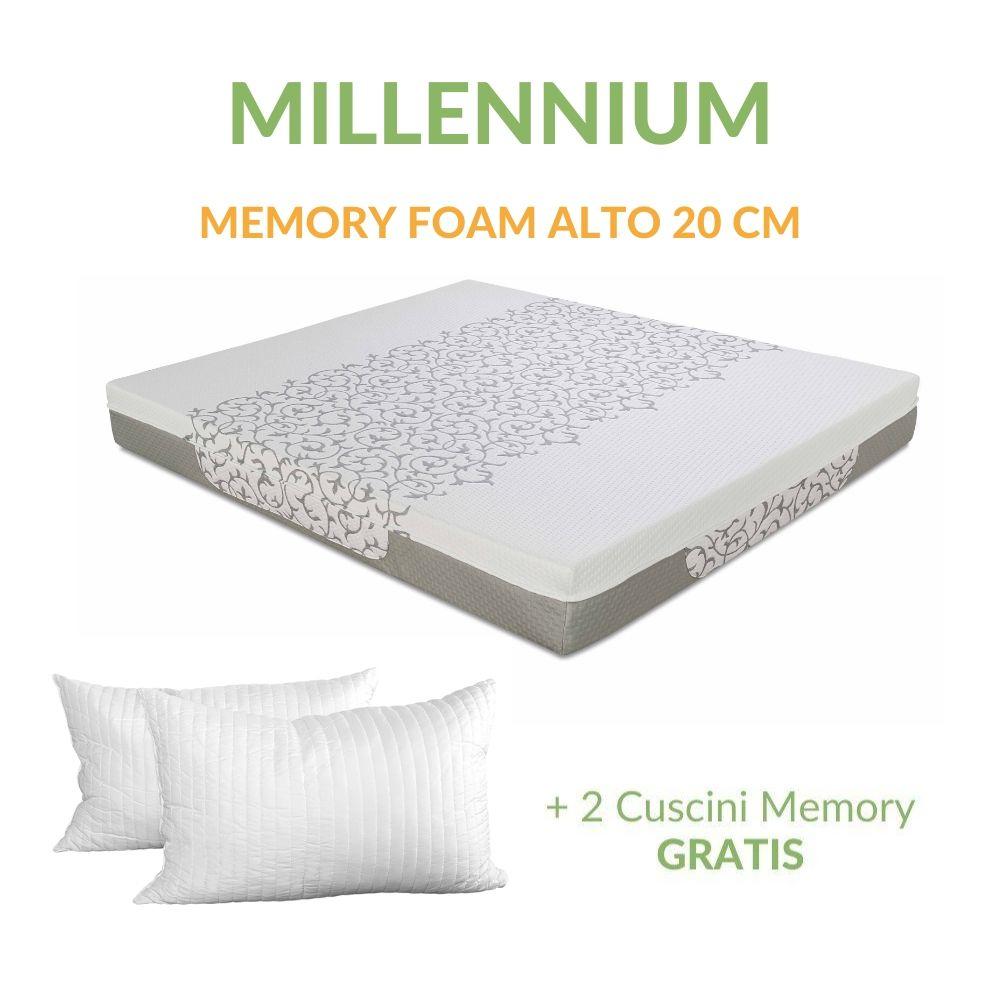 Vendita Cuscini Materassati.Materasso In Memory Foam Alto 20 Cm Cuscino Gratis Millennium
