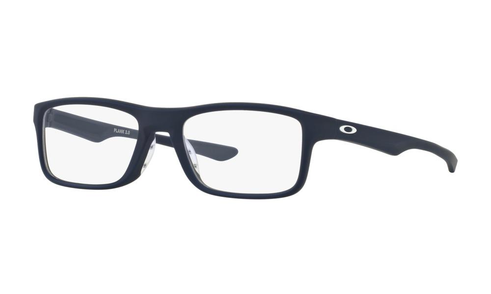 Oakley - Occhiale da Vista Unisex, Plank 2.0, Softcoat Universal Blue   OX8081-0151  C53