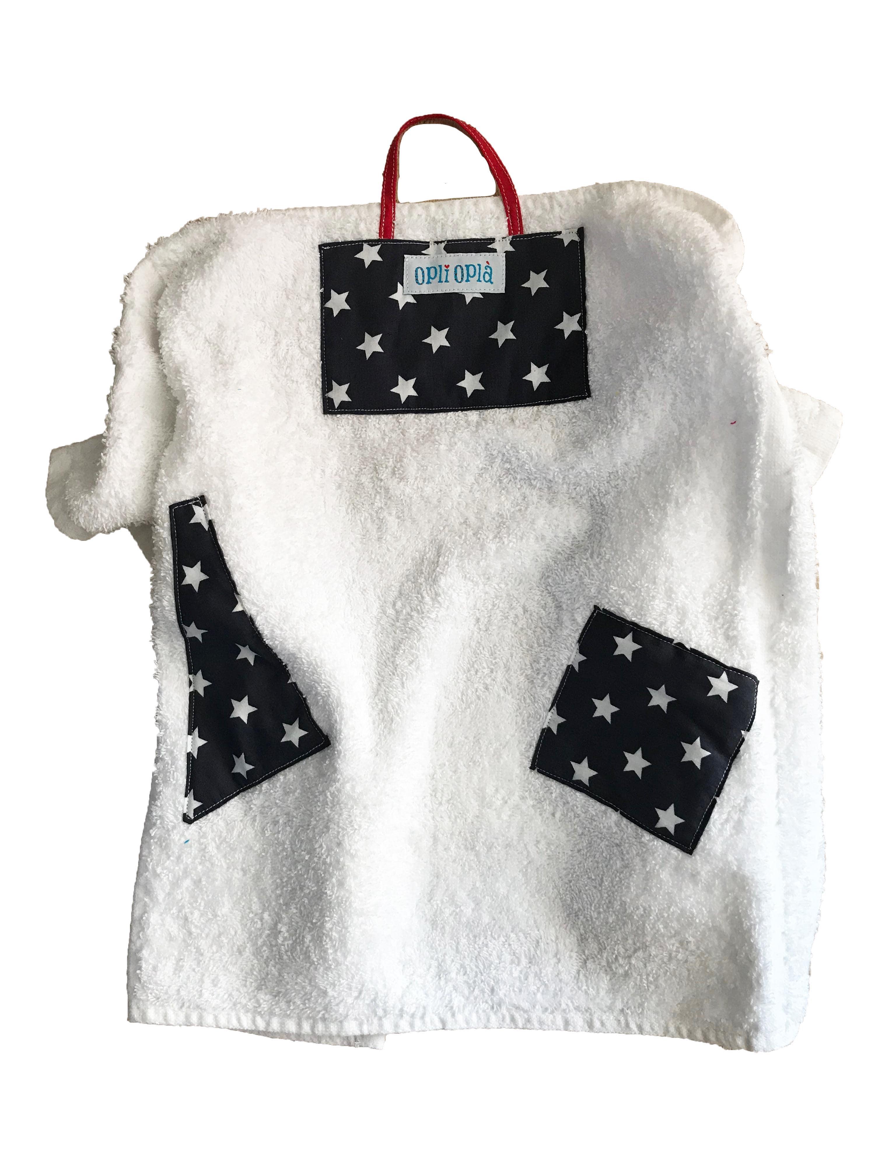 Stelline - Asciugamano bianco scuola