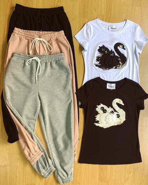 Pantalone Jogger in felpa 3 colori