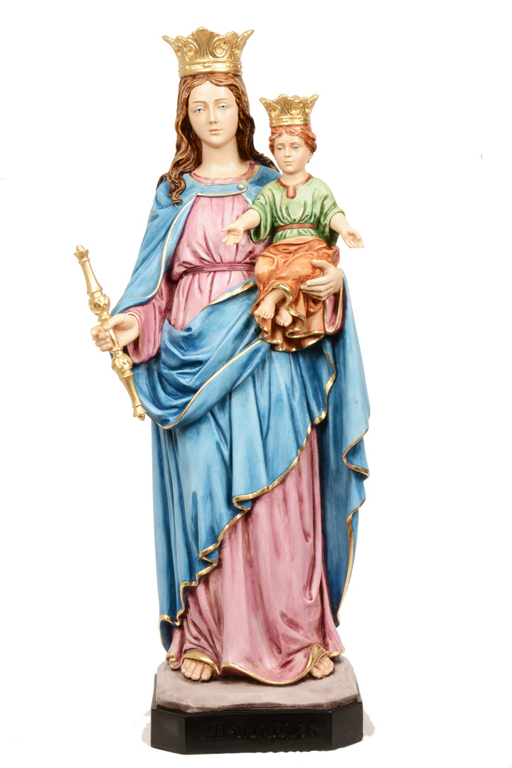 Statua Madonna Ausiliatrice h 60 PASQPA613