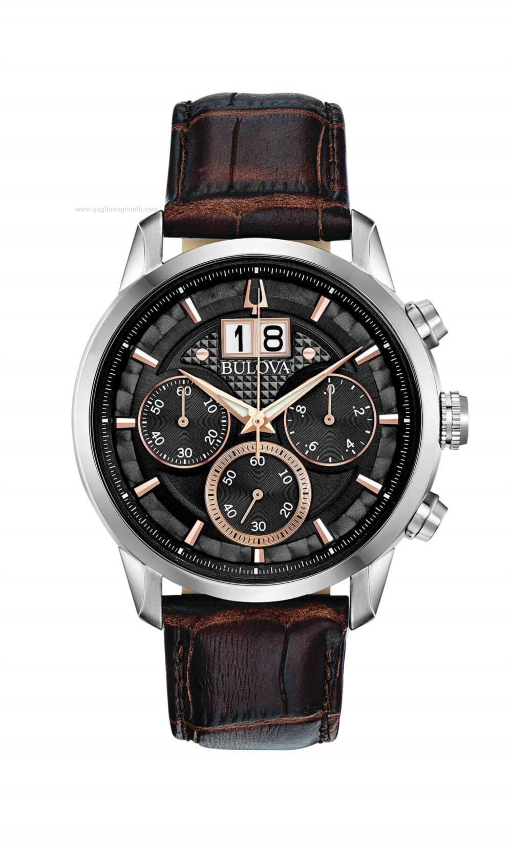 Bulova Sutton Classic Cronografo al Quarzo Marrone