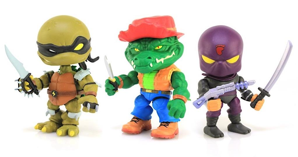 Teenage Mutant Ninja Turtles (the Loyal Subjects) Wave 2 - Slash, Leatherhead & Foot Soldier