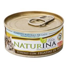 NATURINA ELITÉ GATTO TONNO CON FEGATINI DI POLLO 70 GR