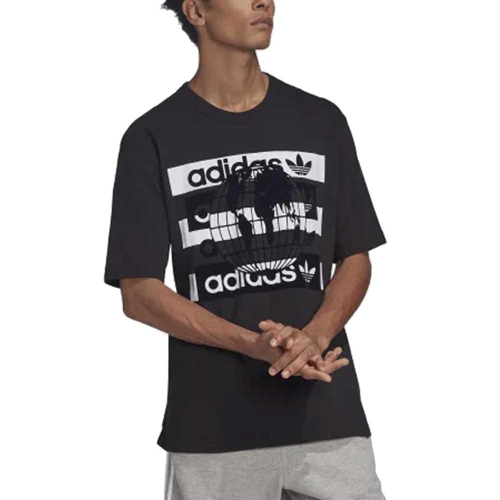 Adidas t-shirt Logo Black  Overs size da Uomo