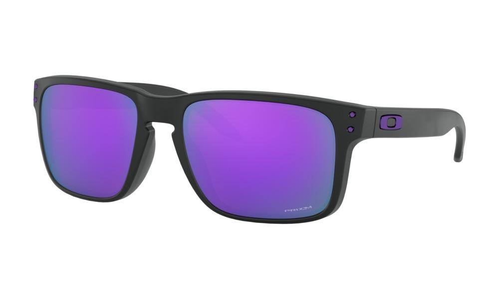 Oakley - Occhiale da Sole Uomo, Holbrook™, Matte Black/Violet Prizm  OO9102-K655  C55