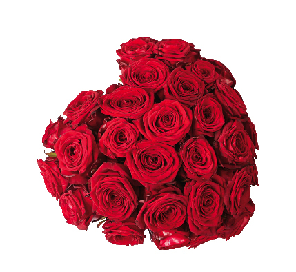 Cuore di rose rosse € 95,00