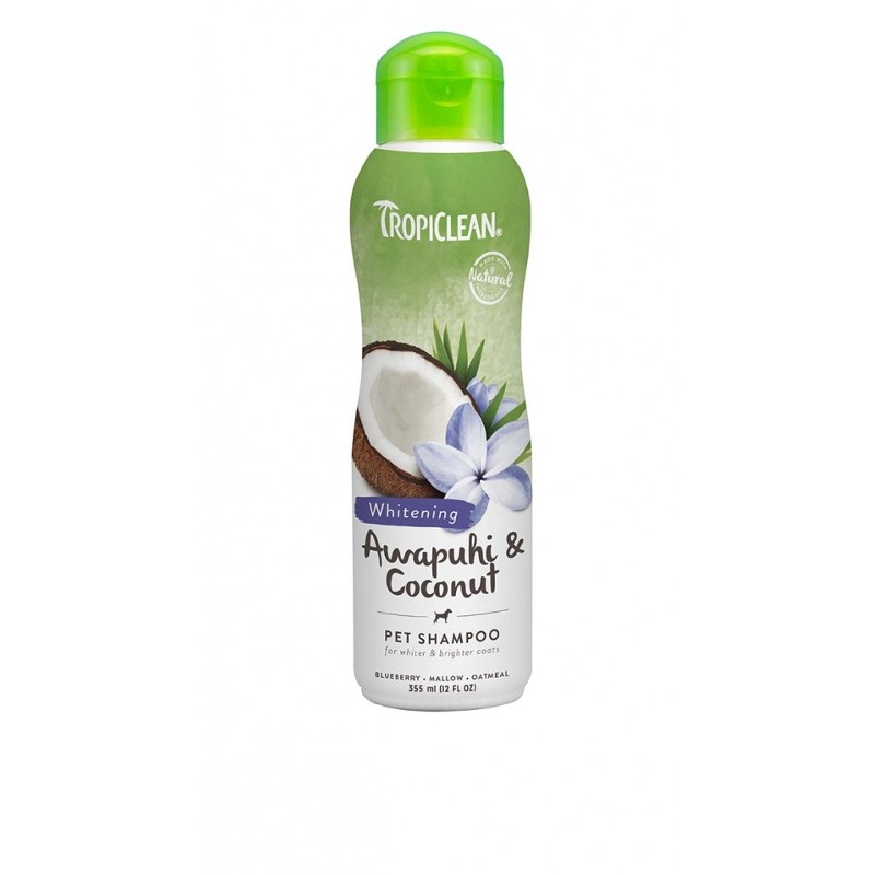 TROPICLEAN WHITENING SHAMPOO PER CANI AWAPUHI E COCONUT 355 ml