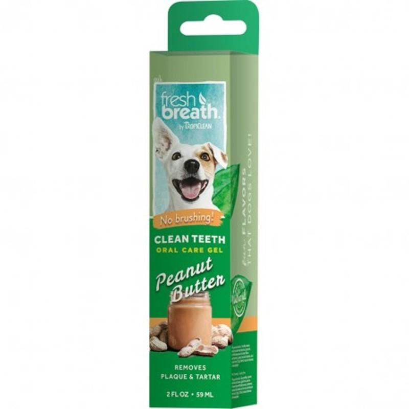 Tropiclean Clean Teeth Gel Peanut Butter 59 ml NEW