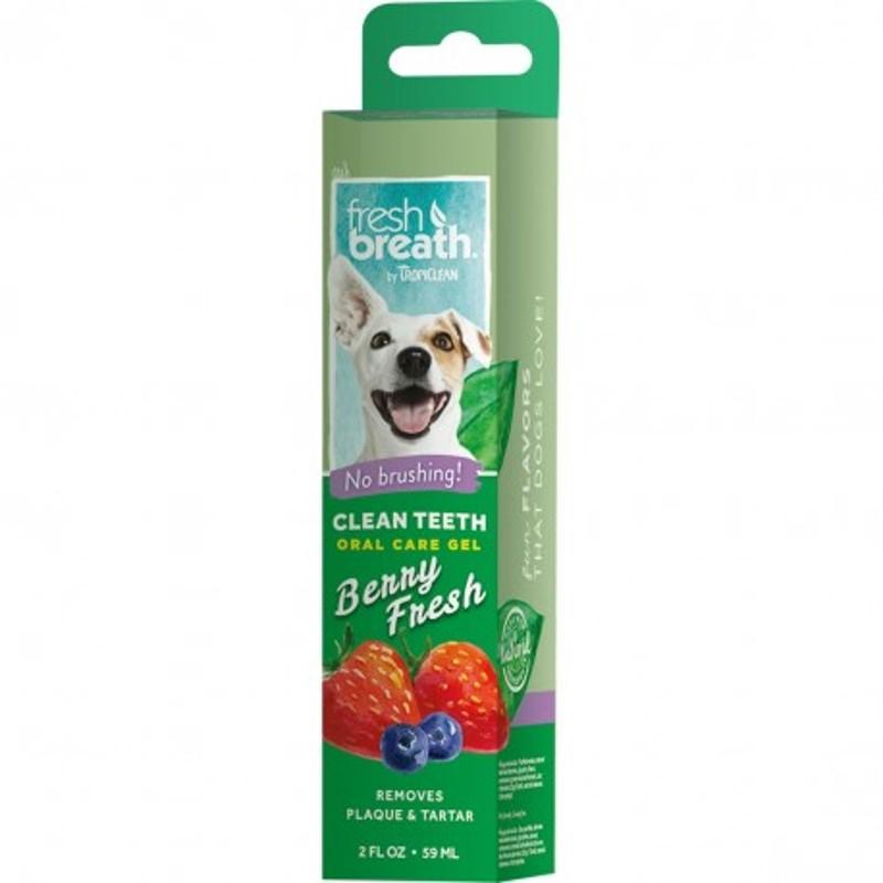 Tropiclean Clean Teeth Gel Berry Fresh 59 ml NEW