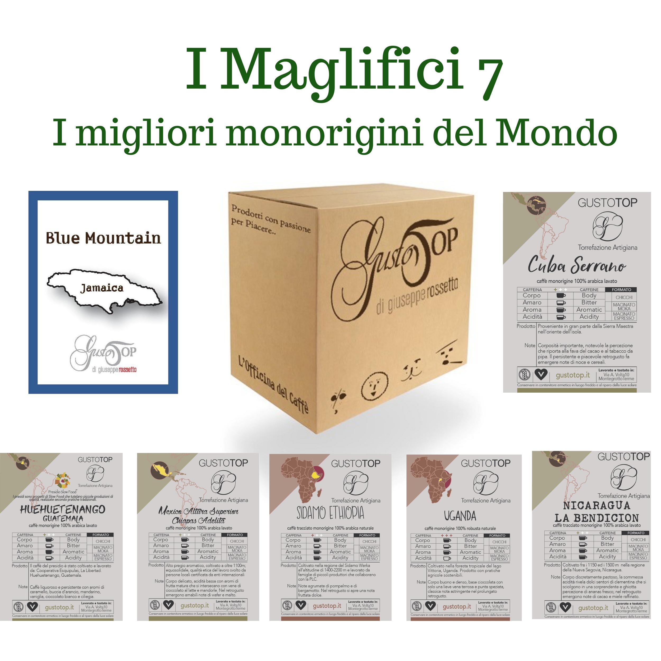 I MAGNIFICI 7, I 7 MONORIGINI TRA I MIGLIORI DEL MONDO, N. 49 CAFFÈ IN CIALDE.