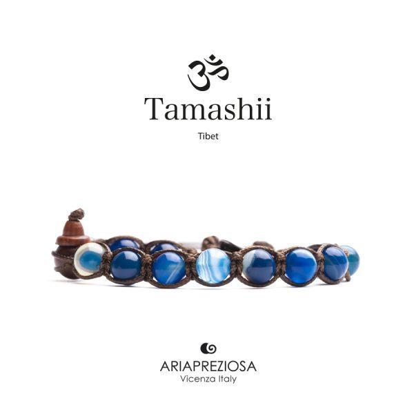 Bracciale Tamashii Agata Blu Striata
