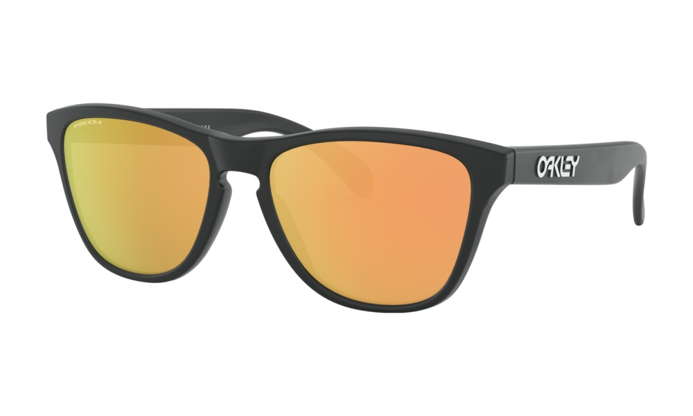 Oakley - Occhiale da Sole Uomo, Frogskins™ XS (Youth Fit), Matte Black/Rose Gold Prizm  OJ9006-1753  C53