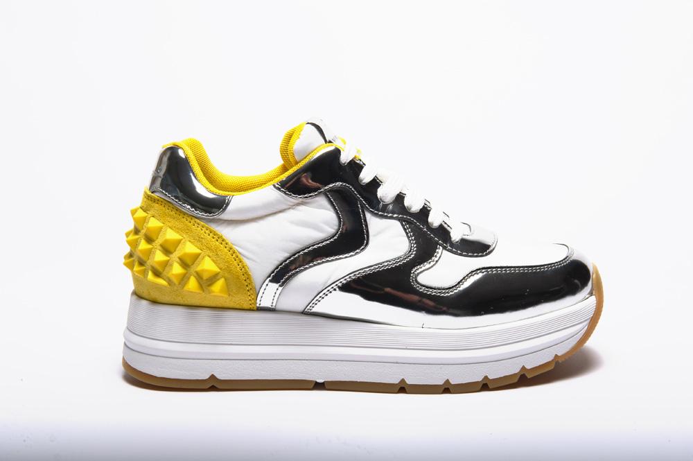 Voile Blanche Sneakers maran studs specchio\nylonpiuma 04 1o29